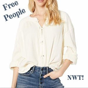 Free People Moving Mountains Peasant Top XS